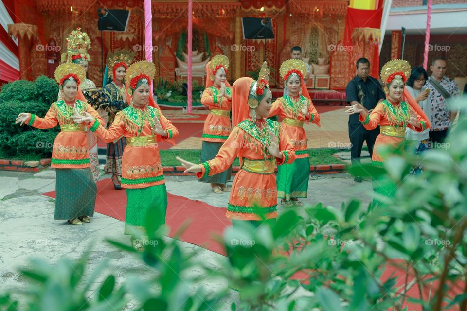 The Best Performance Art With Hapiness. Traditional Wedding Party of West Sumatra