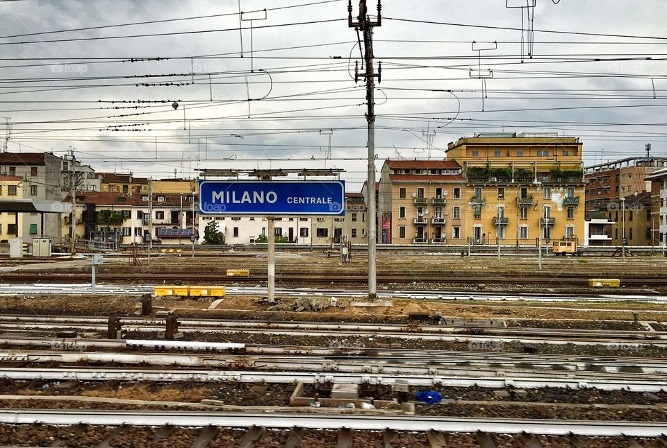 Milano Centrale. Approaching Milan Central Train Station