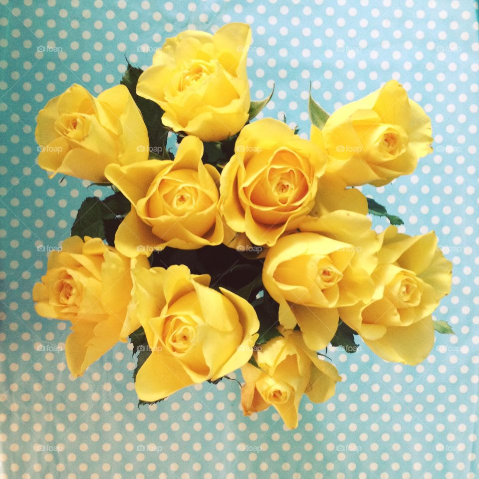 Yellow. Yellow roses