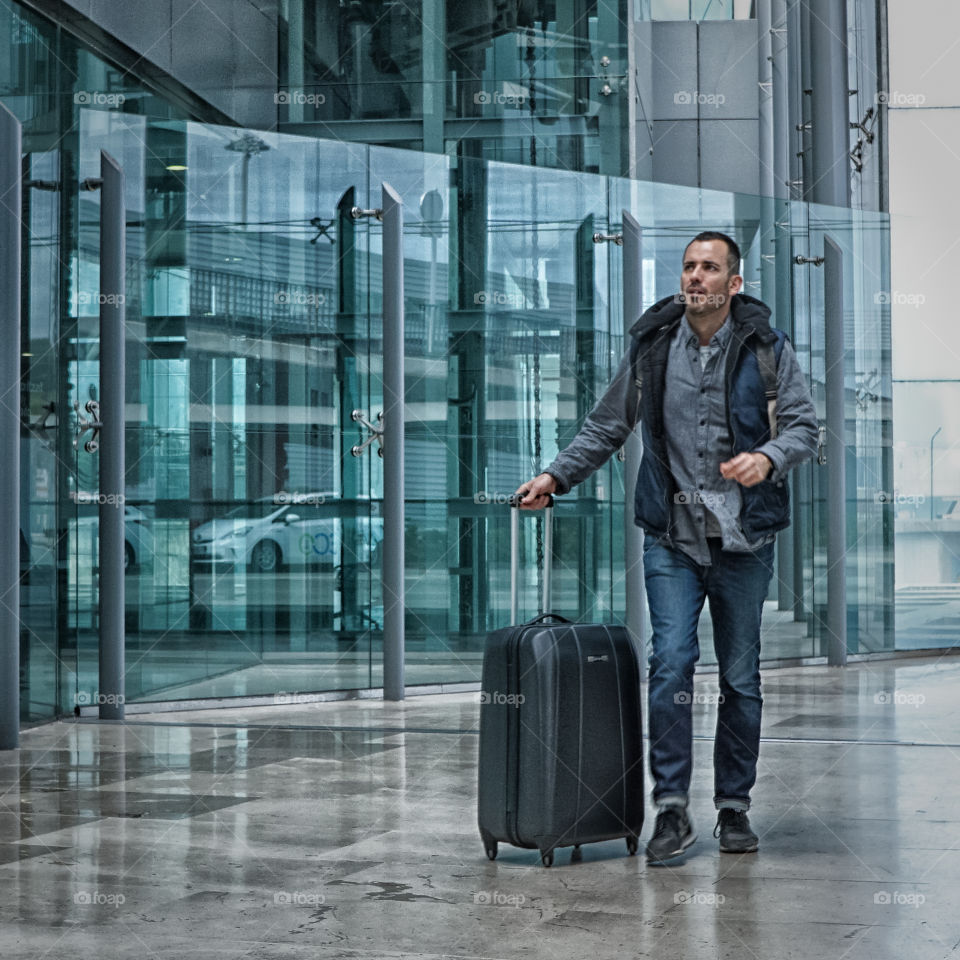 Airport. Airline Passenger at the Airport