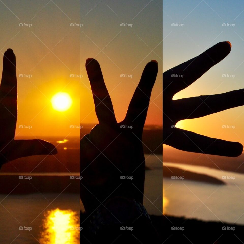 Sunrise picture collage made with my hands and lots of LOVE!!!