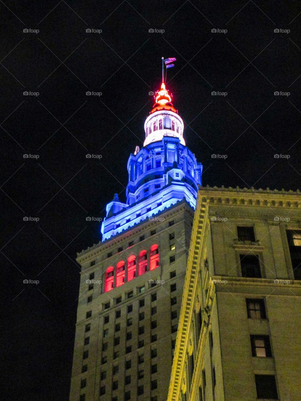 Terminal Tower lights