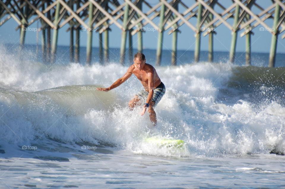 Surfing in Oak Island