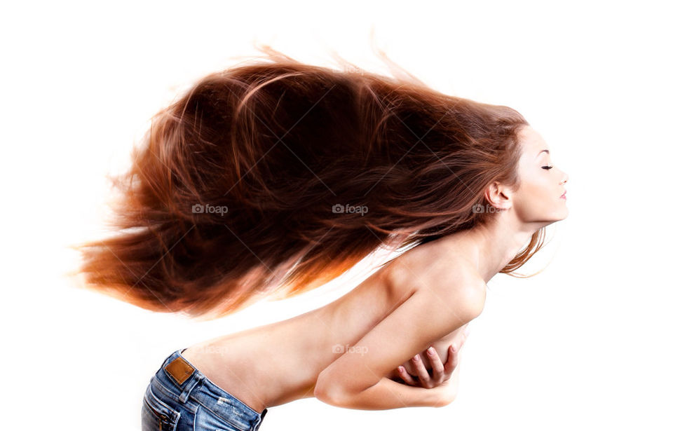 model jeans wind hair by ohayman