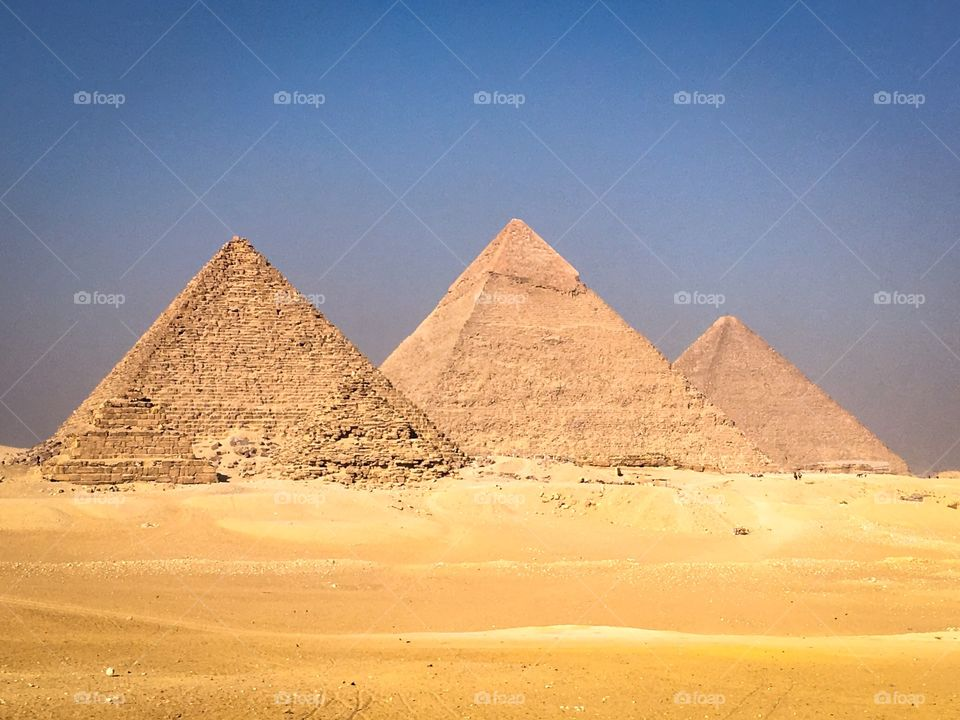 Close-up of pyramids