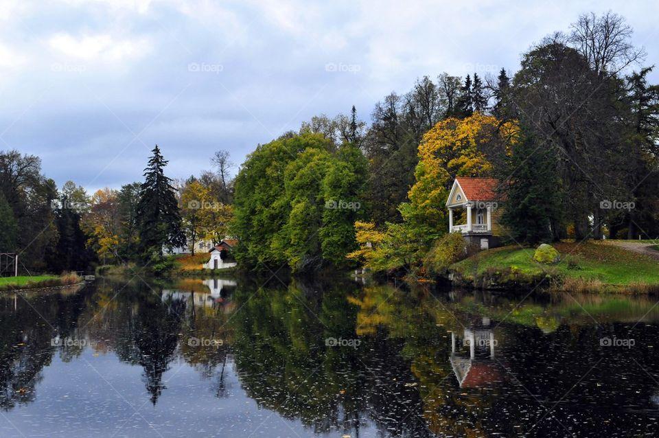 House at lake side