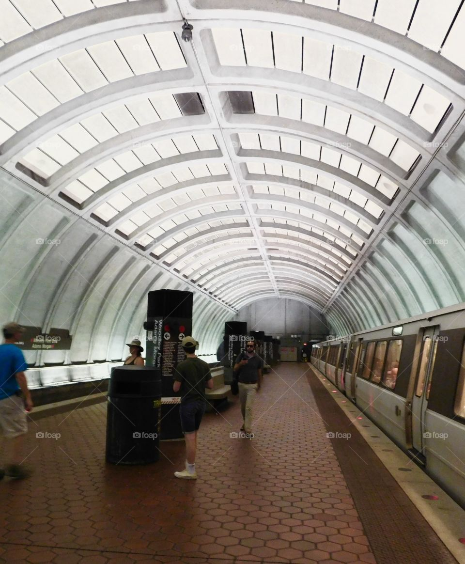 A daily  commute on the subway of DC