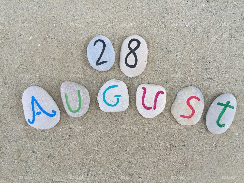 28th August on carved stones