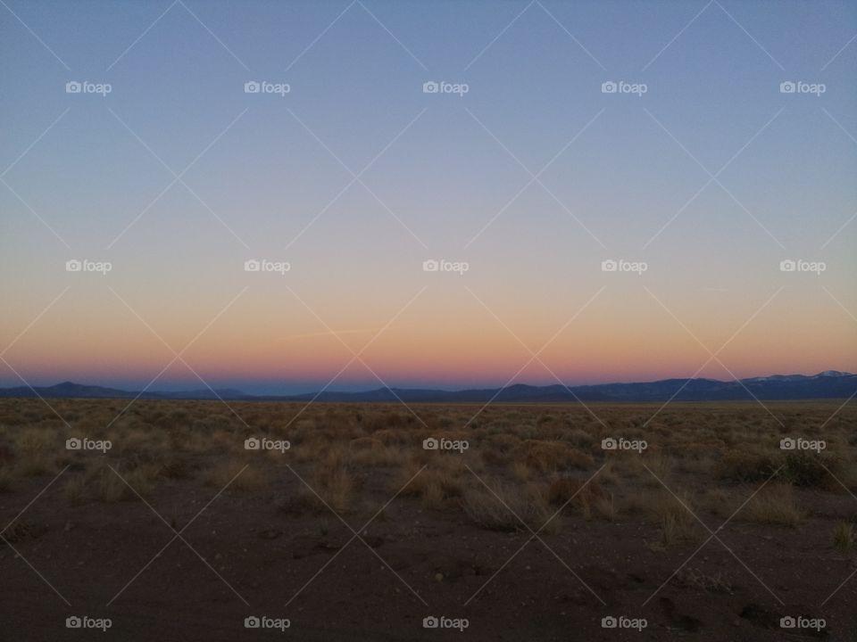 Amazing sunset in Colorado