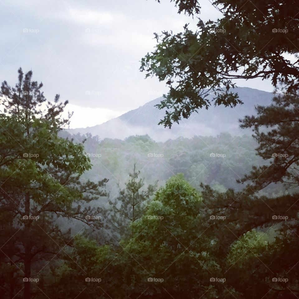our smokey mountain. after a nice may storm, another rolls in