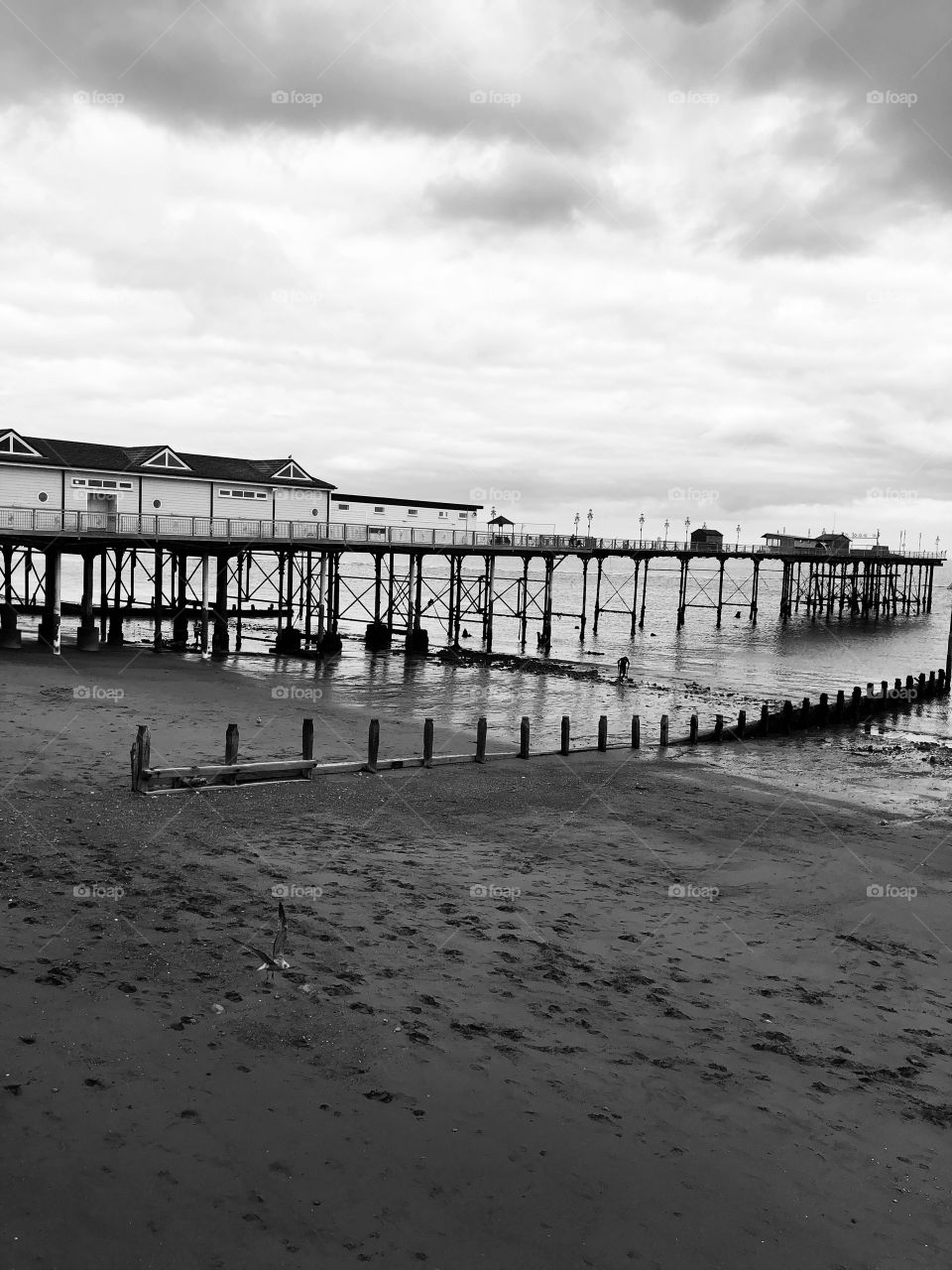 Sadly Teignmouth pier in colour presents as rather old and a little sad, however the same photo in black and white has lots of appeal.