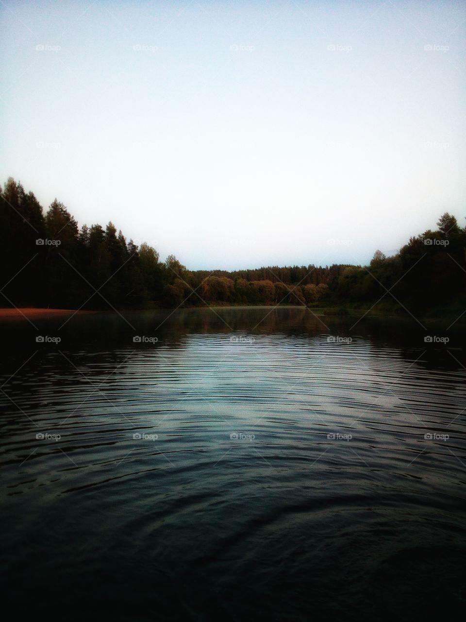 Evening. River. Peace.