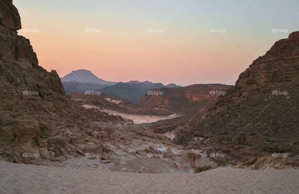 Sunset in the Sinai desert