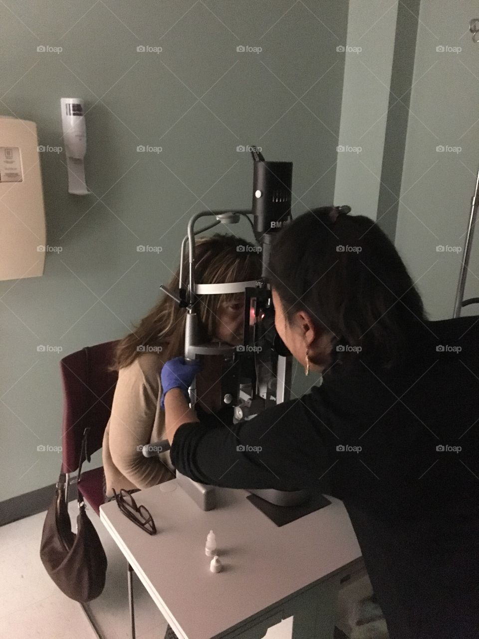 Visit to the eye doctor