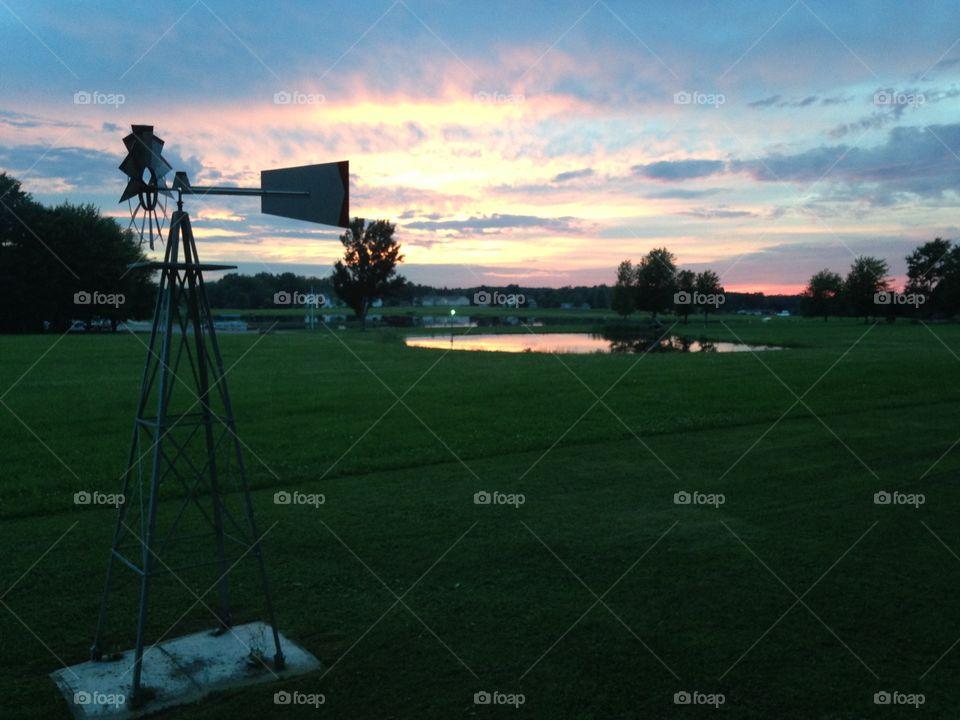 Sunset Lake sky. Sunset Lake sky