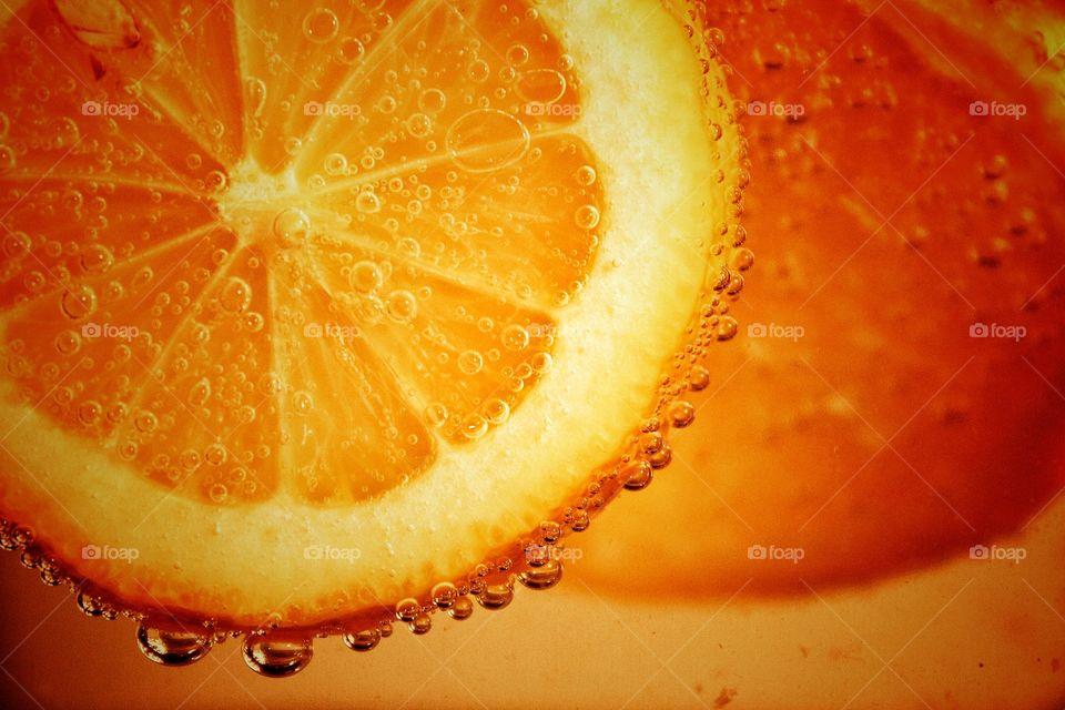 Close-up of orange slices