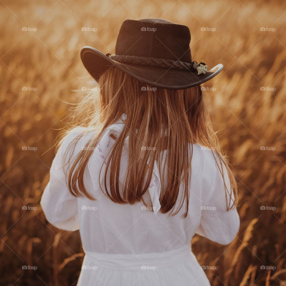 Sunset cowgirl