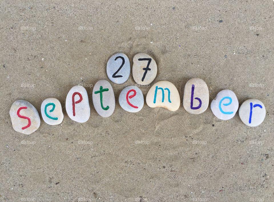 27th September on stones