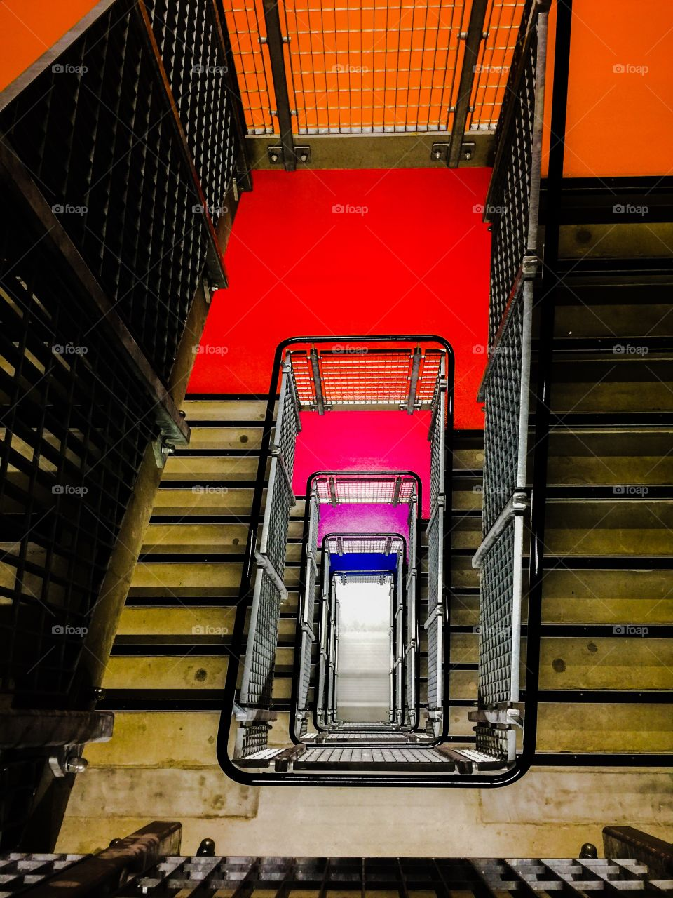 Colour coded stairwell