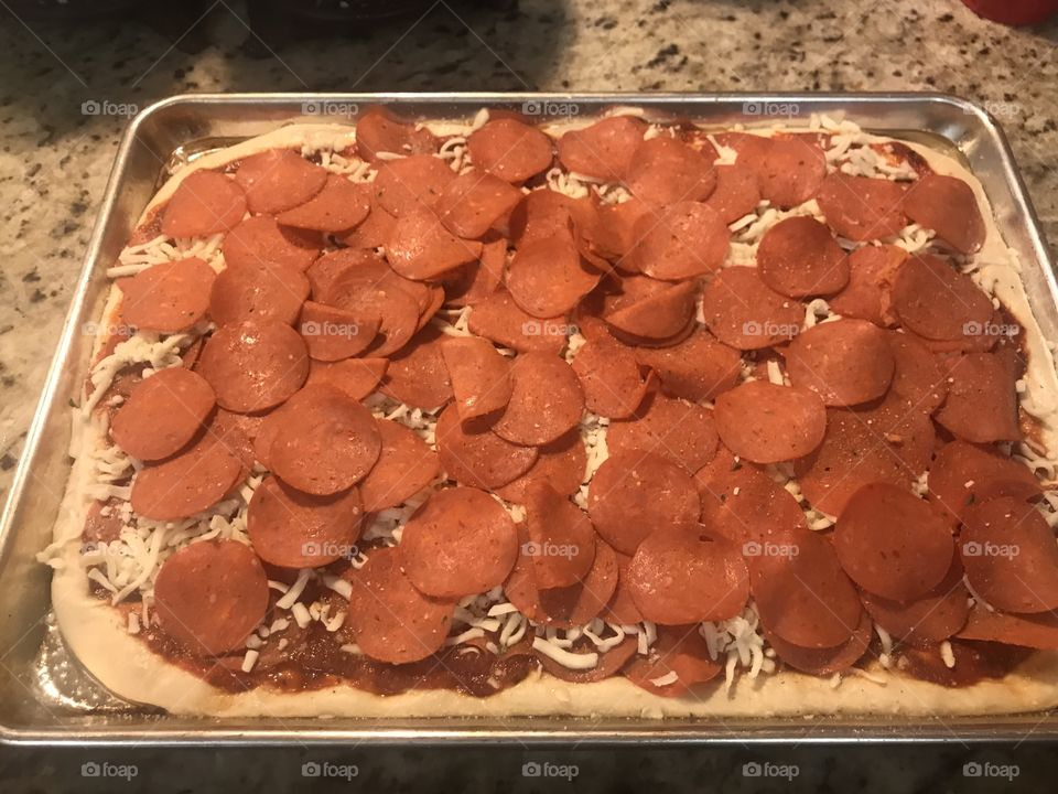 Turkey pepperoni for the kids