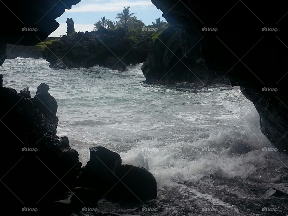Beautiful Cave in Maui, Hawaii
