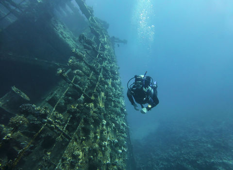 Wreck diving in egypt