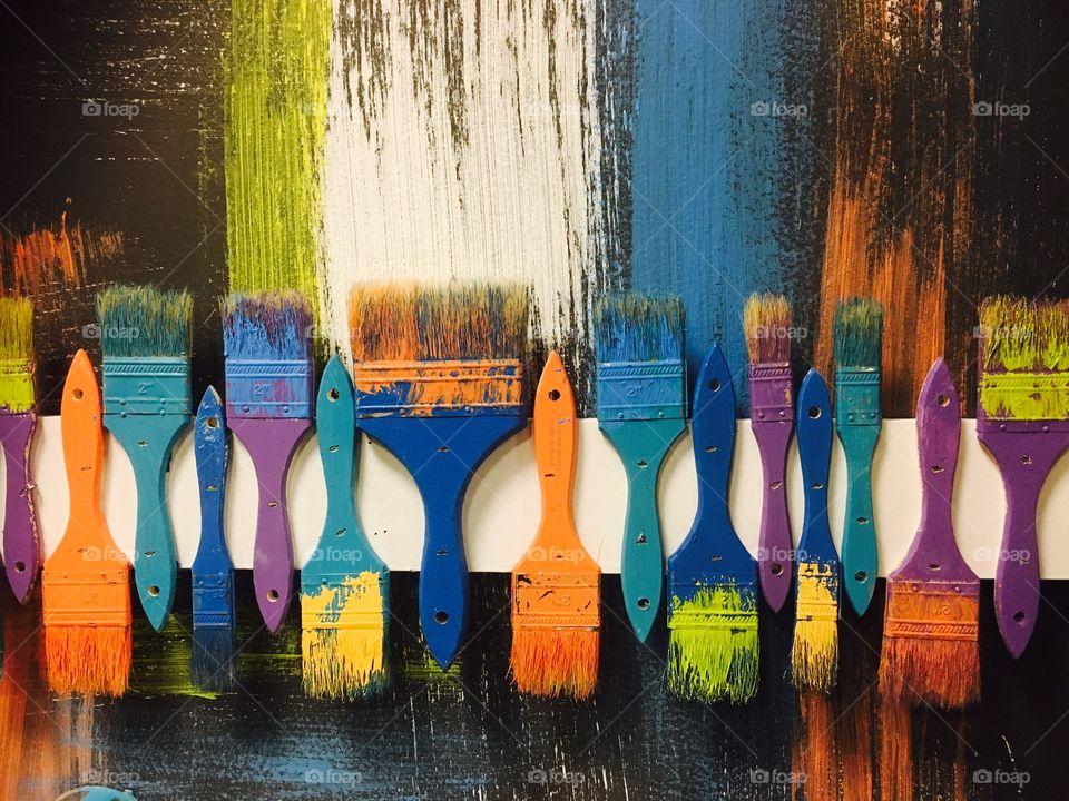 Variety of paintbrushes