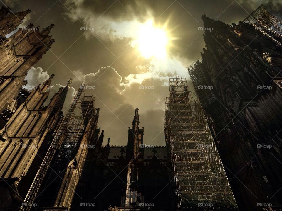 sky germany cathedral skyporn by txmxr