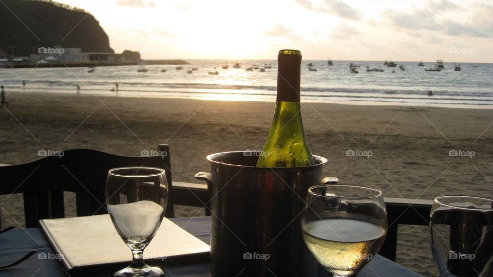 The Good Life. Sunset dining in Nicaragua