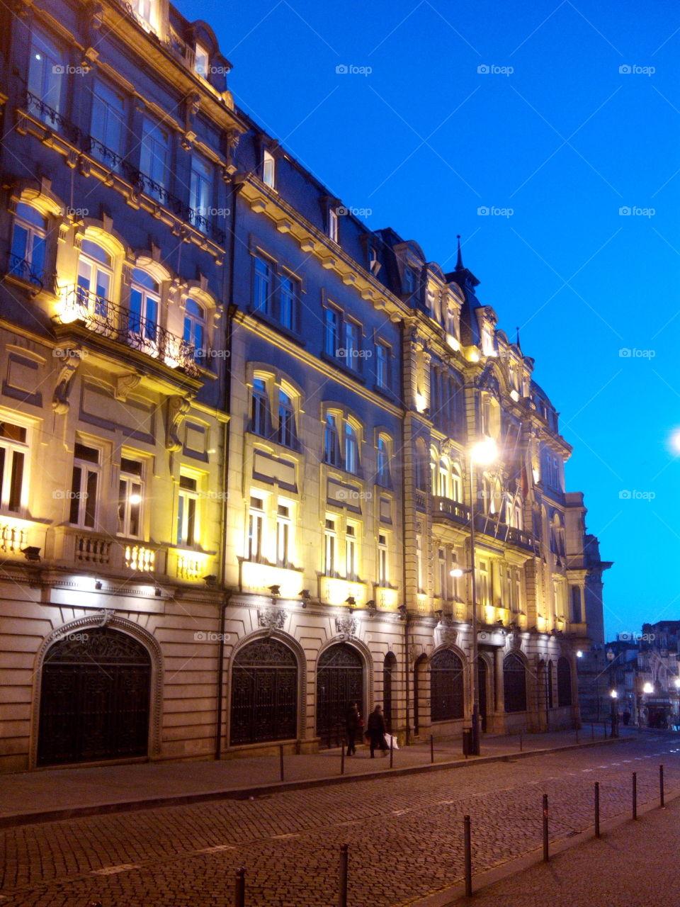 Porto city.  fachada do emblemático café brasileira