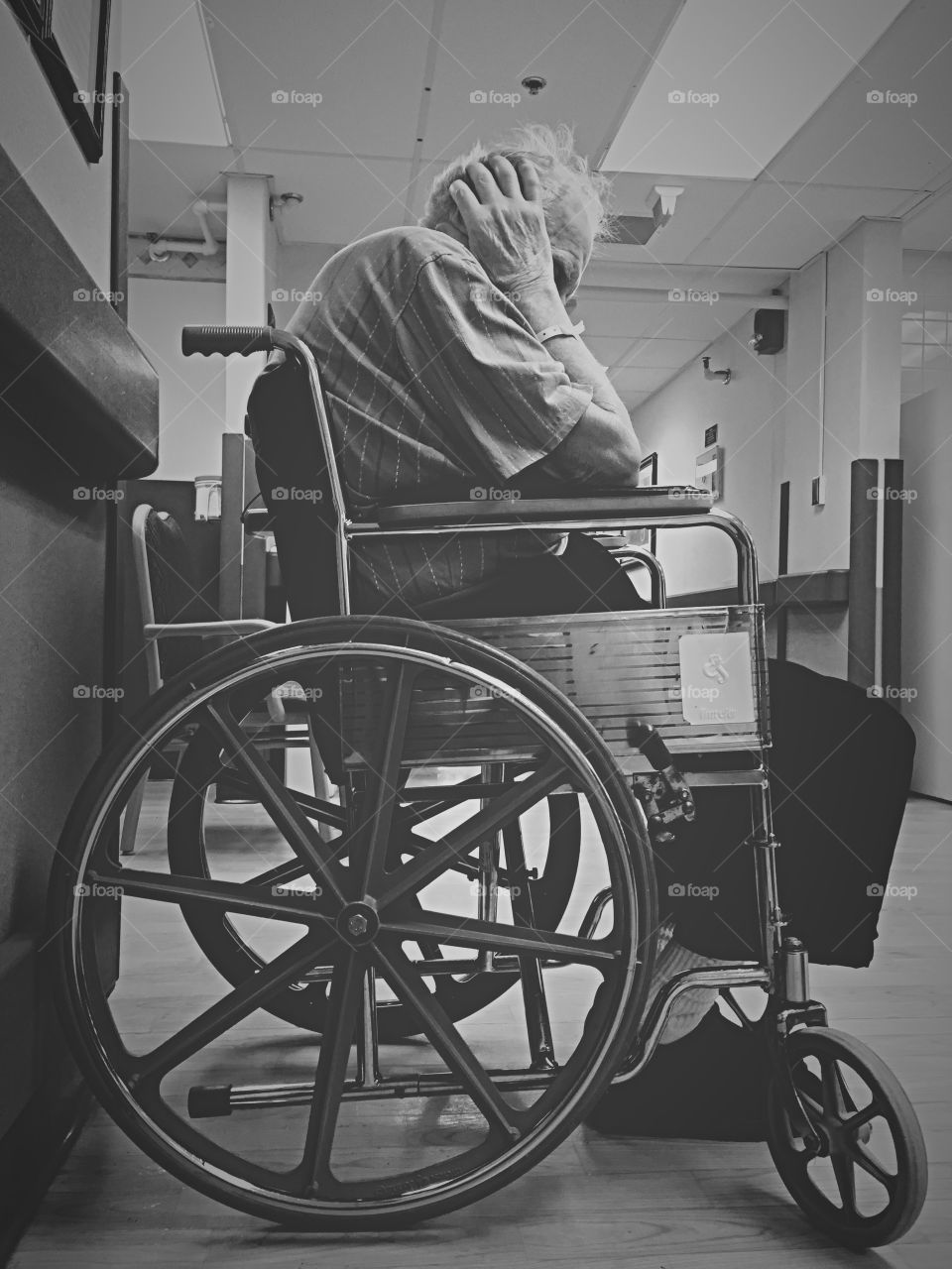 Despair . One of the many emotions the elderly experience daily living in nursing facilities.