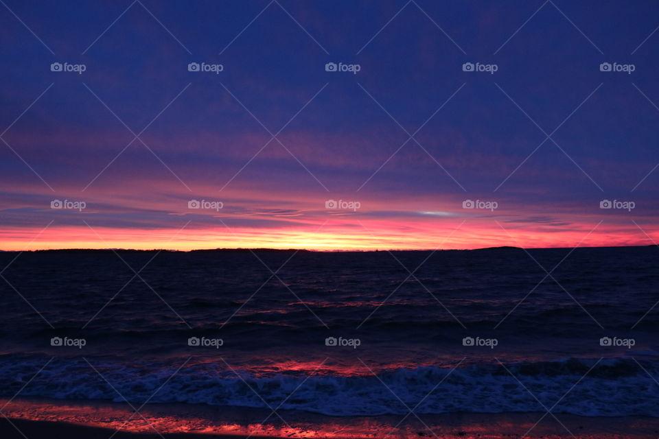 Dawn by the beach