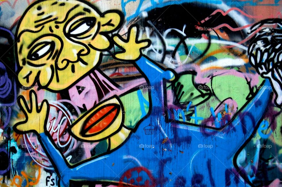 Cool graffiti. North woods Skidmore