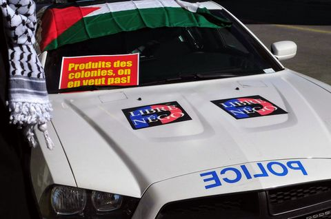 Police supports Palestine