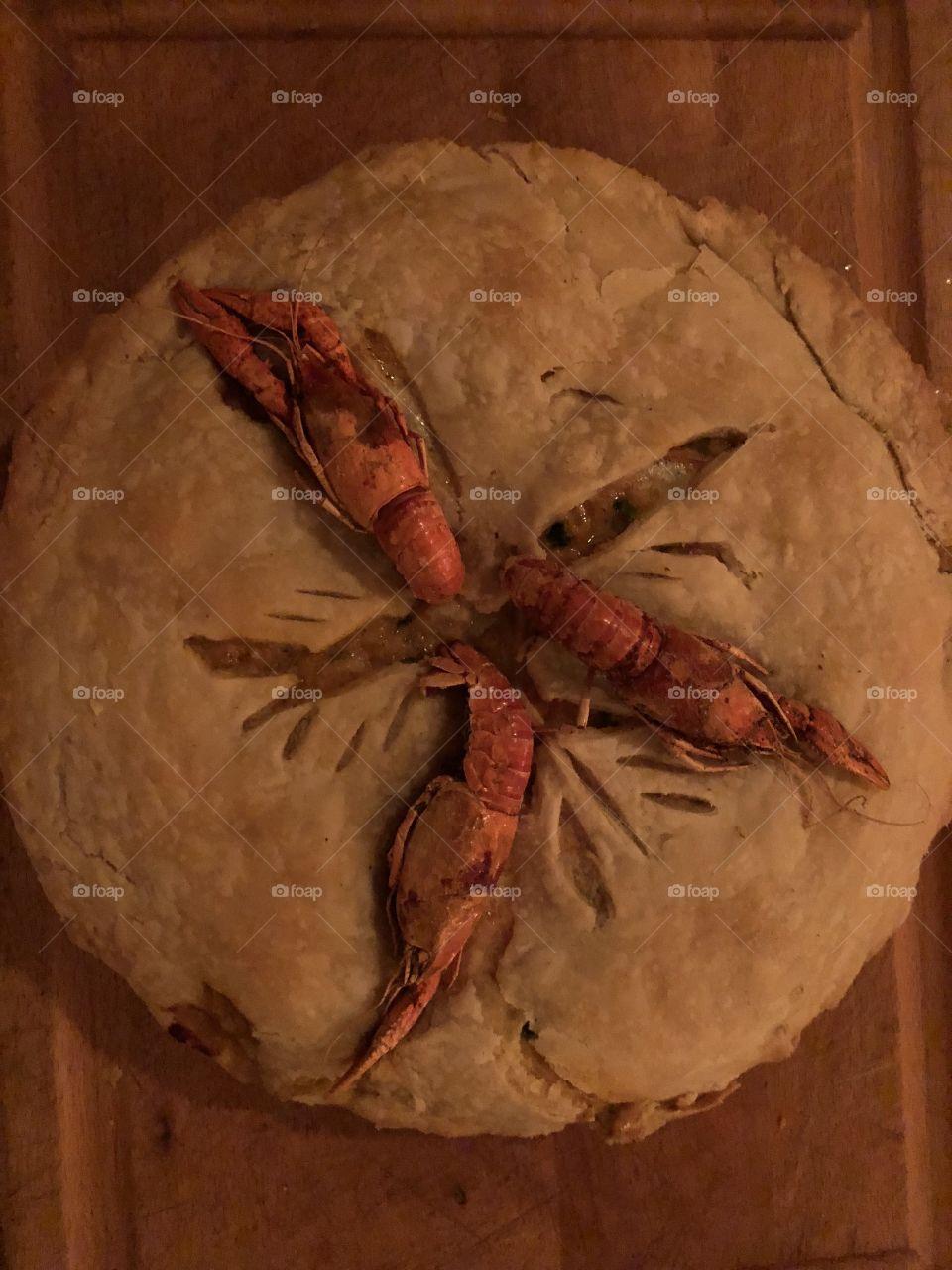Fat Tuesday Crawfish Pie!