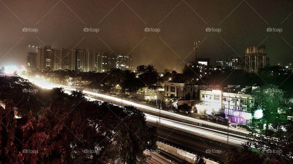 Mumbai Suburbs night . Mumbai Suburbs night