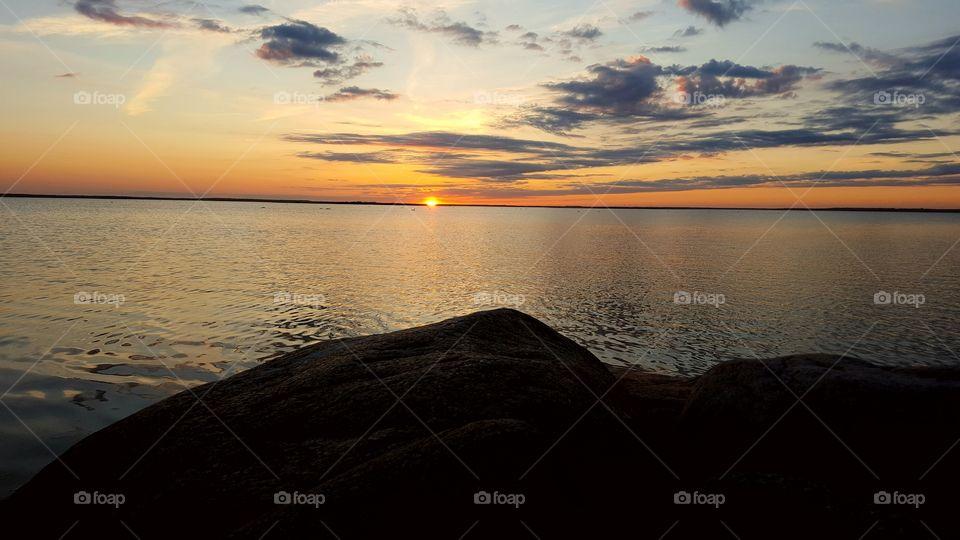 Sunset in Saxnäs