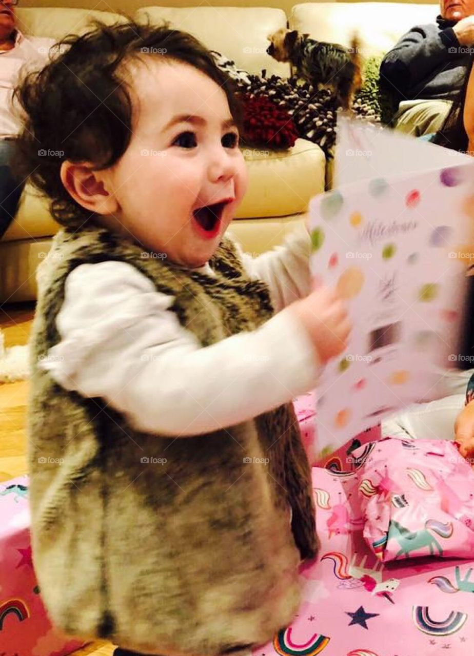 First birthday card surprise