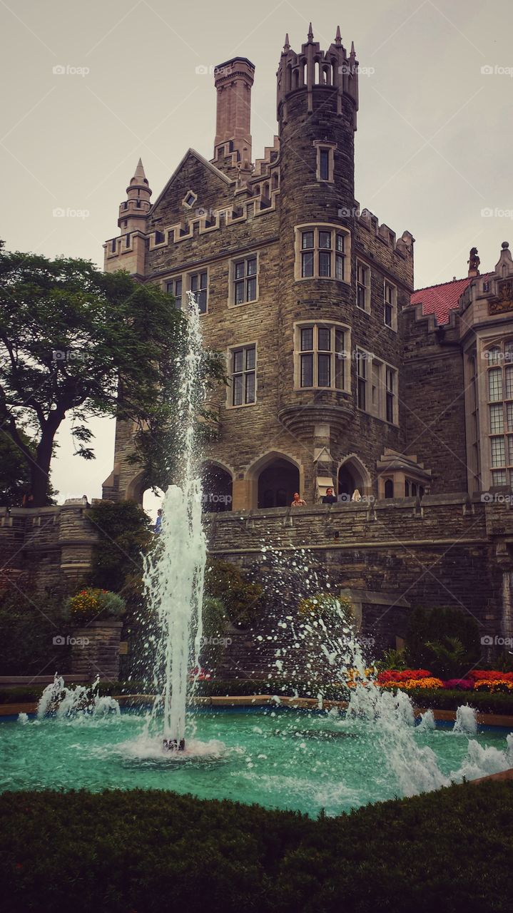 Casa Loma Court Yard with Fountain