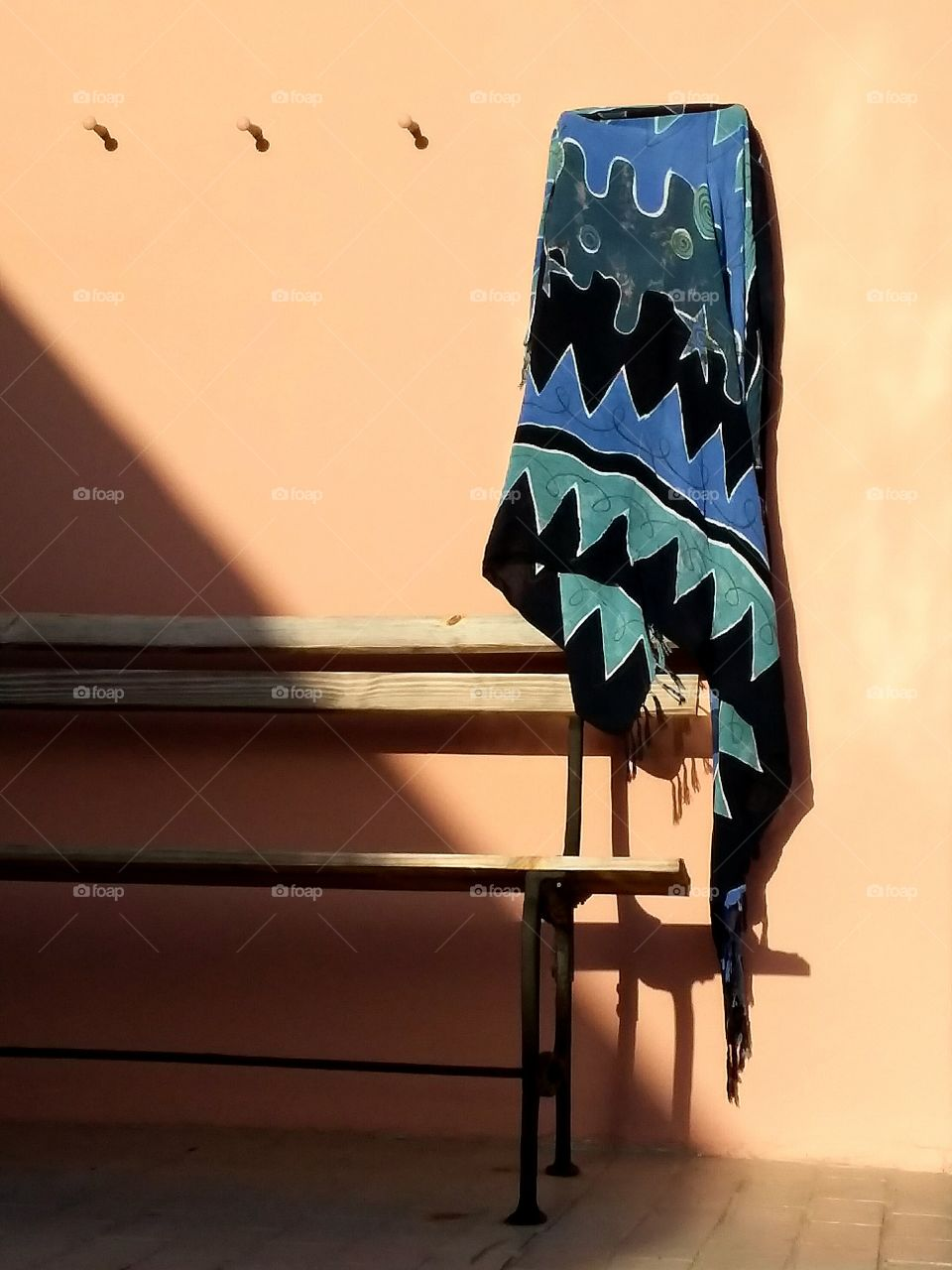 Close-up of towel hanging on wall