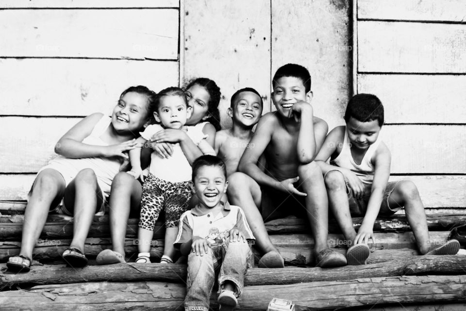 Kids of Nica . These children all live together and are brother, sisters and cousins