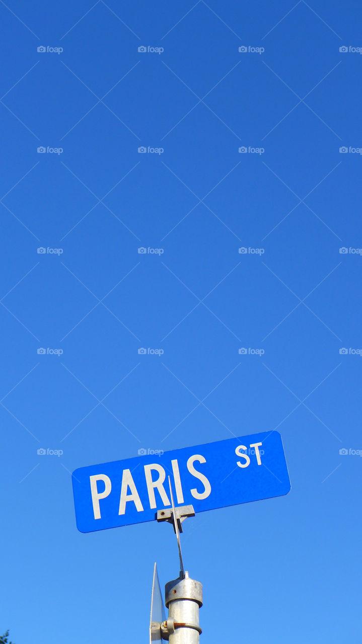 Paris Street sign