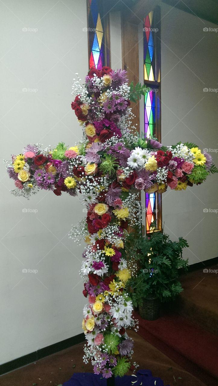 Easter. Easter Cross