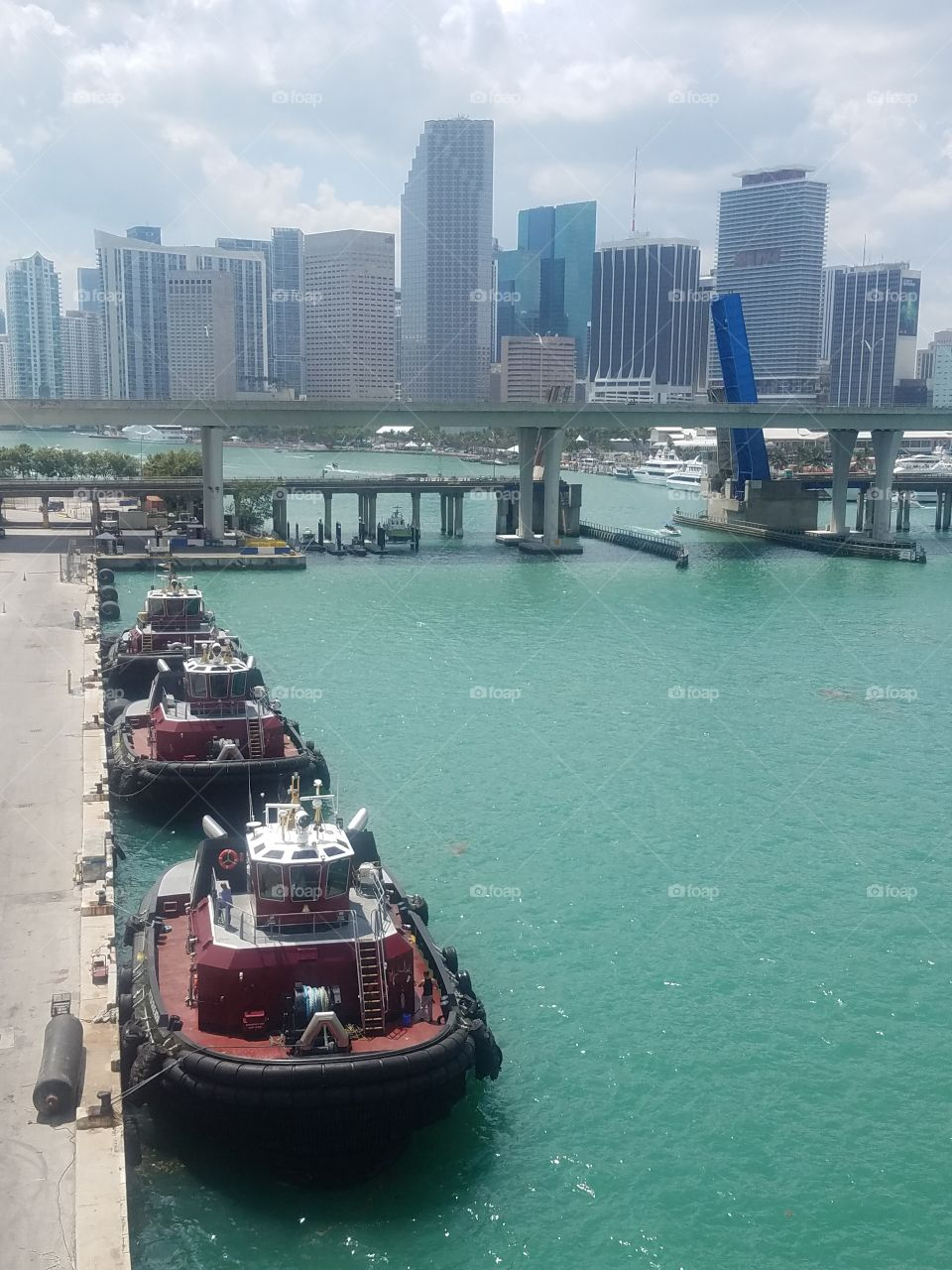Port of Miami with Tug Boats