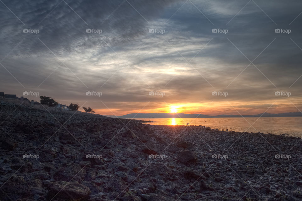 Super Low Tide Sunset . Taken in Alameda, Ca by the Harbor Bay Trails on the day of the 2015 SuperBowl