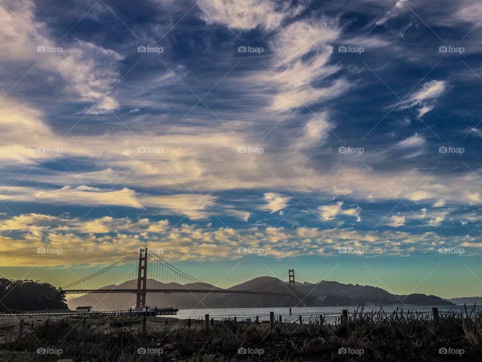 Sunset at Golden Gate Bridge