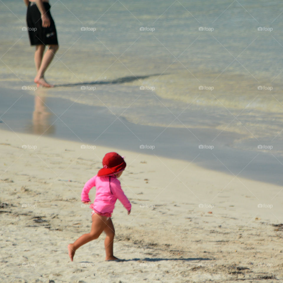 Early Summer Swimming at South Beach (SoBe)! Fun has begun! Feel the sand between your toes!